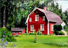 red house | It's much more than we ever expected in a painting.