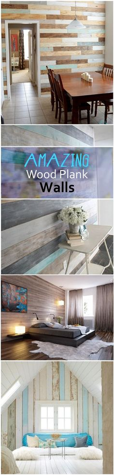 I LOVE the wood plank wall we did in our family room. It added warmth and texture like no other!:
