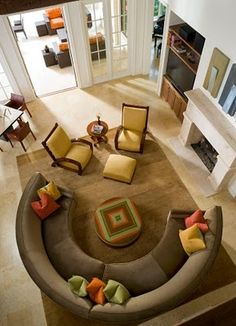 Circular Sofa..great for entertaining but not for napping. Still love the look!