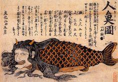 江戸時代の人魚(瓦版より)