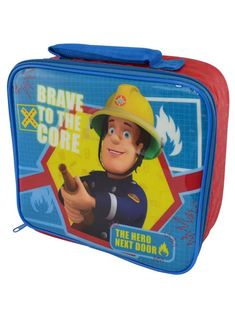 Fireman Sam Brave Insulated Lunch Bag - Available now - Play-rooms - Free Delivery - More matching items available