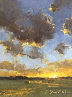 Western Sky Study Original art painting by Laurel Daniel - DailyPainters.com