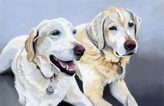 """""""Scout and Benny commissioned portrait"""" - Ria Hills"""
