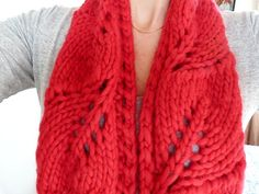 Vite (grapevine in Italian) is the perfect one-skein project with a super bulky yarn or 2 skeins of Breathless Cush (doubled). The lacy vine pattern makes this cowl/scarf less than overwhelming when doubled. Super Bulky Yarn, Cowl Scarf, Pattern Making, Crochet, Mittens, Ravelry, Knitted Hats, How To Make, How To Wear