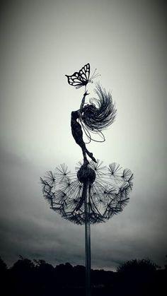 Metallfee Hof Kunst - tattoo - Metallfee yard art - t Body Art Tattoos, Art Painting, Art Drawings, Art Tattoo, Fairy Tattoo Designs, Fairy Artwork, Art, Art Sketches, Art Wallpaper