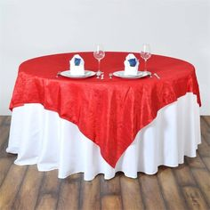 x Red Taffeta Crinkle Square Tablecloth Overlay Red Wedding Decorations, Patriotic Decorations, Red Tablecloth, Table Overlays, 4th Of July Celebration, Table Covers, Crinkles, Wedding Table, Wedding Colors