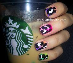 Large Leopard Print Nails!!