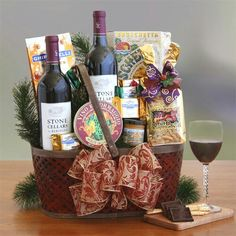 Do you like wine? Our Napa Valley Charm Basket is lovely www.giftsbynoni.com