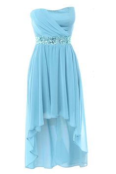 Gorgeous blue bridesmaid dress! Jewel Embellished Mullet Dress.  Bling? hi-low hem? can this be anymore perfect?