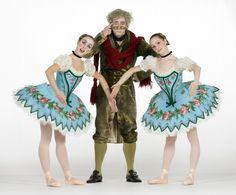 COPPELIA choreographed by Ben Stevenson.  (R-L) Dancers: Sara Webb, Phillip Broomhead and Laura Richards.  Photographer: Drew Donovan