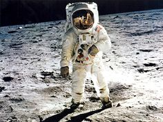 @TheRealBuzz 44 years ago today Neil took this photo of me at Tranquility Base on the moon.