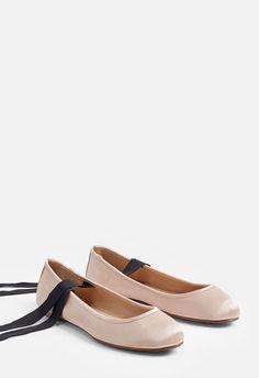 290bc9705 JustFab Rachela Flat Womens Beige regular Size 8.5 Womens Flats, Ballet  Flats, Ballerina,