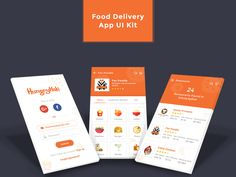 Food Delivery App UI kit is designed for Restaurants and Online food services company. It has good user interface with a great user experience that impress your customers easily to order their favourite foods. Restaurant App, Delivery App, Adobe Xd, Ui Kit, App Ui, User Interface, App Design, Sketch, Ios
