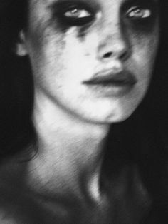 I don't know why I even bother with wearing eyeliner, mascara, or eye shadow anymore. Dark Photography, Black And White Photography, Grunge Photography, Jolie Photo, Photos, Pictures, Dark Art, Mascara, Monochrome