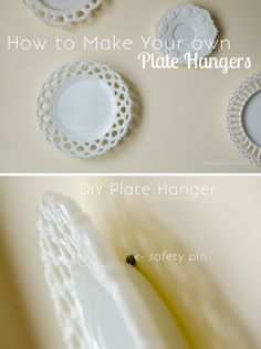 Craftaholics Anonymous® | DIY Plate Hangers using Household items