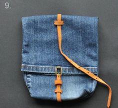 Cosmetic Bag with a frame. Tutorial. ~ DIY Tutorial Ideas! Denim Bag  Tutorial 4d0263f8cfb67