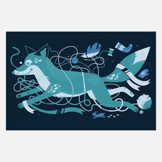 The Crafty Fox Print 19x12.5 now featured on Fab.