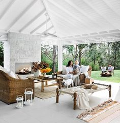 44 Ideas exterior furniture dream homes beach houses Outdoor Spaces, Outdoor Living, Engineered Timber Flooring, Three Birds Renovations, Open Plan Living, Beautiful Interiors, Interior Design Living Room, Outdoor Furniture Sets, New Homes