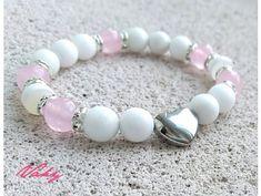 VÁHY - jadeit, růženín, achát v dzi úpravě Beading, Women Jewelry, Beaded Bracelets, Ideas, Bangle Bracelets, Accessories, Armband, Beads, Pearl Bracelets