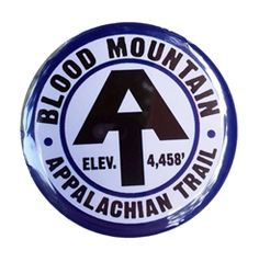 AT symbol refrigerator magnet with Blood Mountain and elevation.