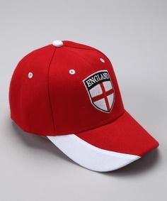ce525ef8324 Red  England  Flag Baseball Cap - Toddler