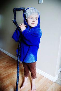 Super adorable Jack Frost cosplay -- #child #children's #costume #cosplay #diy #halloween #movie #guardians