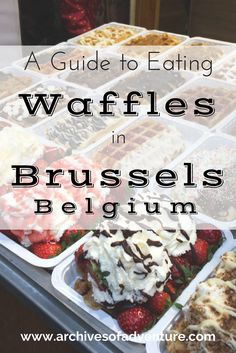 I'm a big waffle fan in general, but to visit a country that's known for their delicious waffles? Visiting Brussels, I had one major goal in mind: to find the best waffles in Brussels, Belgium! Visit Belgium, Drinking Around The World, Belgian Waffles, Brussels Belgium, Best Places To Eat, Foods To Eat, European Travel, Foodie Travel, Street Food