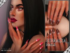 Sims 4 CC's - The Best: Eumacia Nails N18 by Pralinesims