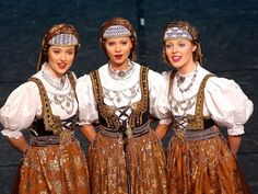 Cieszyn costume, Poland (Zespół Pieśni i Tańca Mazowsze)