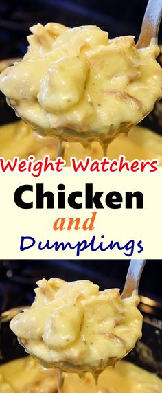 This quick-and-easy recipe for Chicken & Dumplings is the perfect comfort food. Skinny Recipes, Ww Recipes, Easy Healthy Recipes, Easy Meals, Cooking Recipes, Low Calorie Chicken Recipes, Recipies, Dessert Recipes, Snacks Recipes