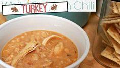 Easy Crock Pot Turkey Chili ( Leftover Turkey Recipe ) via @Mom4Real