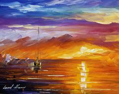LONELY SEA - Original Oil Painting On Canvas By Leonid Afremov http://afremov.com/LONELY-SEA-Original-Oil-Painting-On-Canvas-By-Leonid-Afremov-16-X20-40cm-x-50cm.html?utm_source=s-pinterest&utm_medium=/afremov_usa&utm_campaign=ADD-YOUR