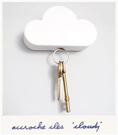 This magnetic cloud key holder fixes to your wall and then suspends your keys from the bottom using 3 hidden magnets, mount it on your wall and your keys will always be in the first place you look…