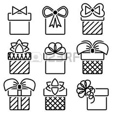 gift boxes with bows vector icon set photo Bow Vector, Vector Art, Pigeon Logo, Butterfly Logo, Doodle Drawings, Letter Logo, Christmas Art, Gift Boxes, Ribbon Bows