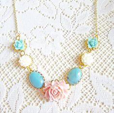 Floral Necklace by Jewelsalem, $42.00