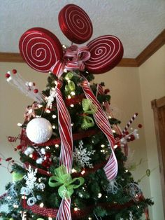 peppermint tree topper
