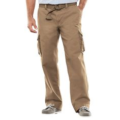 e391cc2e7d6f59 Men s SONOMA Goods for Life™ Relaxed-Fit Twill Cargo Pants