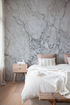 Modern Marble Bedroom Decoration Ideas to Steal Picture 40 – Home and Apartment Ideas Marble Bedroom, Gray Bedroom, Trendy Bedroom, Bedroom Colors, Modern Bedroom, Bedroom Decor, Bedroom Ideas, Design Bedroom, Bedroom Interiors