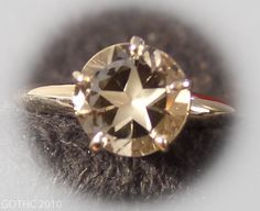 Star brilliant cut Texas topaz in sterling ring. This is the most popular design I cut.