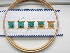 Cute cross stitch. Makes we want to get my needle out. But I'd do the expressions the opposite way.