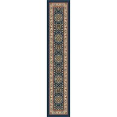 Shop Milliken Blue Tufted Runner (Common: 2-ft x 11-ft; Actual: 2.333-ft x 11.666-ft) at Lowes.com