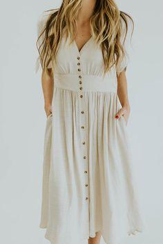 Knee Length Pocket Dress | ROOLEE
