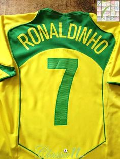 f8da072c2 Official Nike Brazil home football shirt from the 2004 05 international  season. Complete with