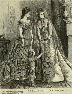 Suknia ślubna i wieczorowa, 1876   Wedding and evening dress, 1876