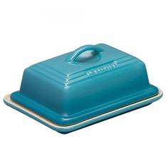Stoneware Butter Dish  Teal
