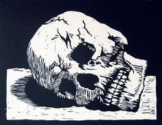 skull linoleum printing - Google Search