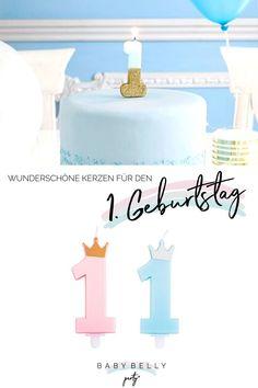 """Süße Kuchenkerzen in Form der Zahl """"1"""" für die Tortendeko auf dem ersten Kindergeburtstag und dazu passende Motivkerzen haben wir hier für Sie zusammengestellt. Baby Belly, Vanilla Cake, Form, Desserts, Theme Ideas, Candles, Nice Asses, Tailgate Desserts, Deserts"""