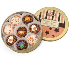 Milk's Favorite CookieTM just got sweeter…this delicious assortment of Halloween Belgian Chocolate Dipped Oreos® is absolutely yummy! Our festive keepsake tin is filled to the brim with 16 Belgian Chocolate Covered Oreo® Cookies. Each piece is decorated by our Confectionary Artisans f... more details available at https://perfect-gifts.bestselleroutlets.com/gifts-for-holidays/grocery-gourmet-food/product-review-for-halloween-chocolate-oreo-tin-of-16/