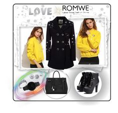"""""""ROMWE"""" by sabahetasaric ❤ liked on Polyvore featuring Yves Saint Laurent, Geox, Simon G., BERRICLE and CLUSE"""