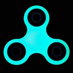 Cheap price MorisMos Tri-Spinner Fidget Toy Hand Spinner Stress Reducer Relieve Anxiety- Fluorescent blue on sale
